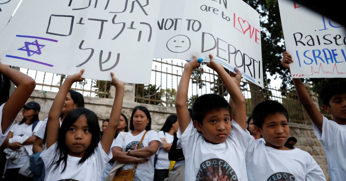 Israel to deport 100 Filipinas with their Israeli-born children this summer