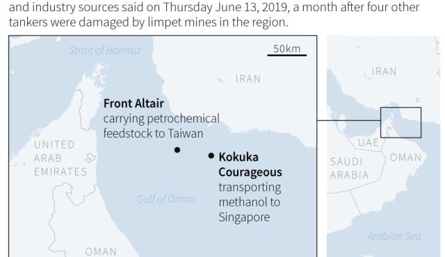 Blaming Iran for attack on Gulf tankers, U S  releases video of