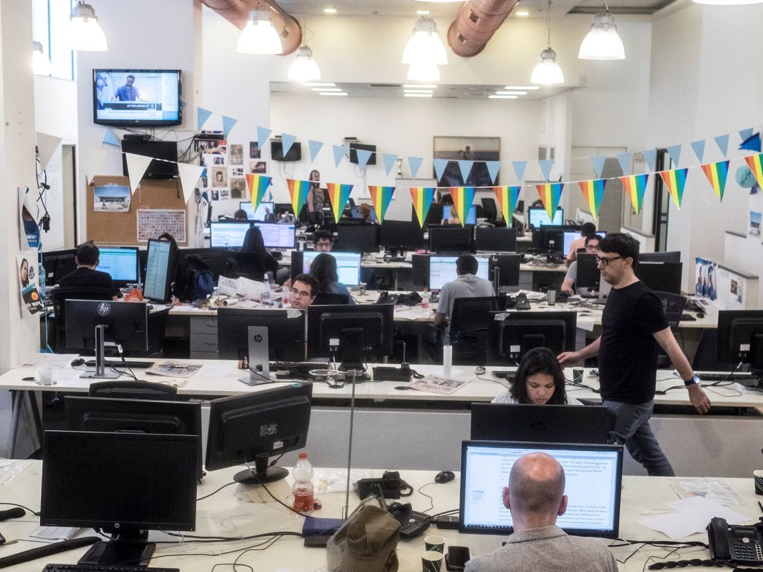 Capturing journalism in the moment: Day and night at Haaretz