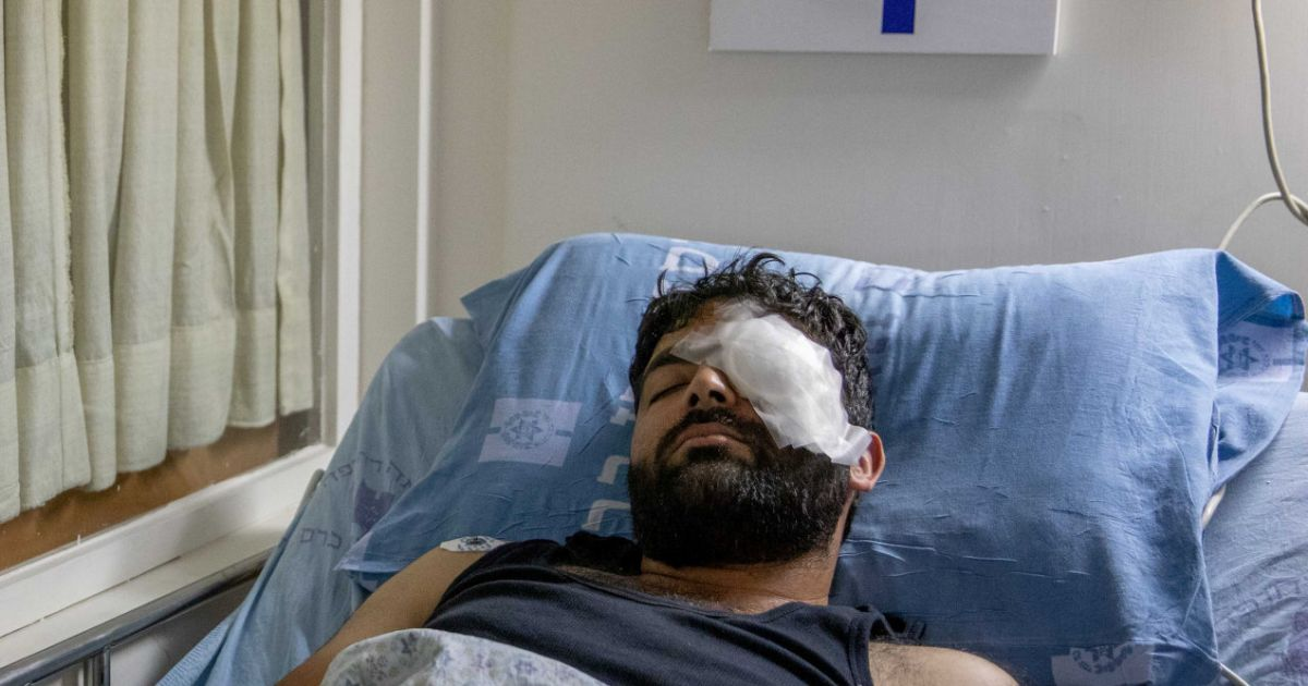 Palestinian photographer blinded in one eye by Israeli Border Police fire at protest