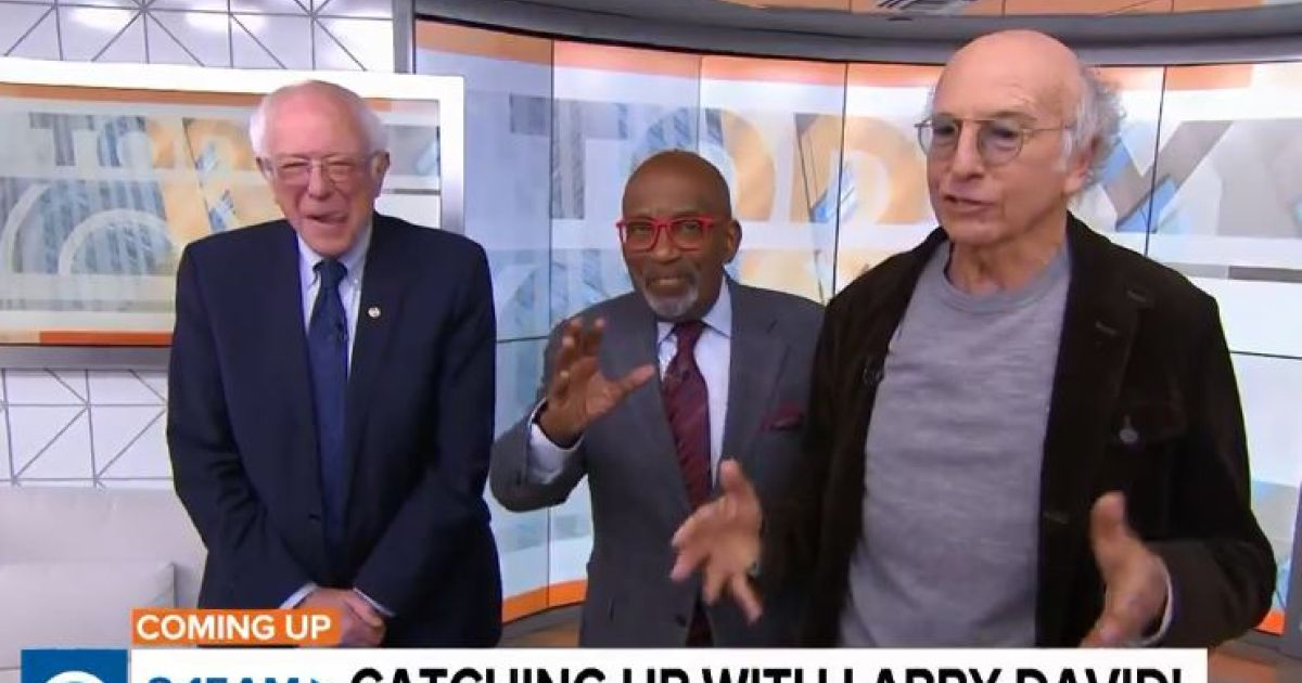 Larry David and Bernie Sanders Appear Together on 'Today' - and It's Everything You Hoped For
