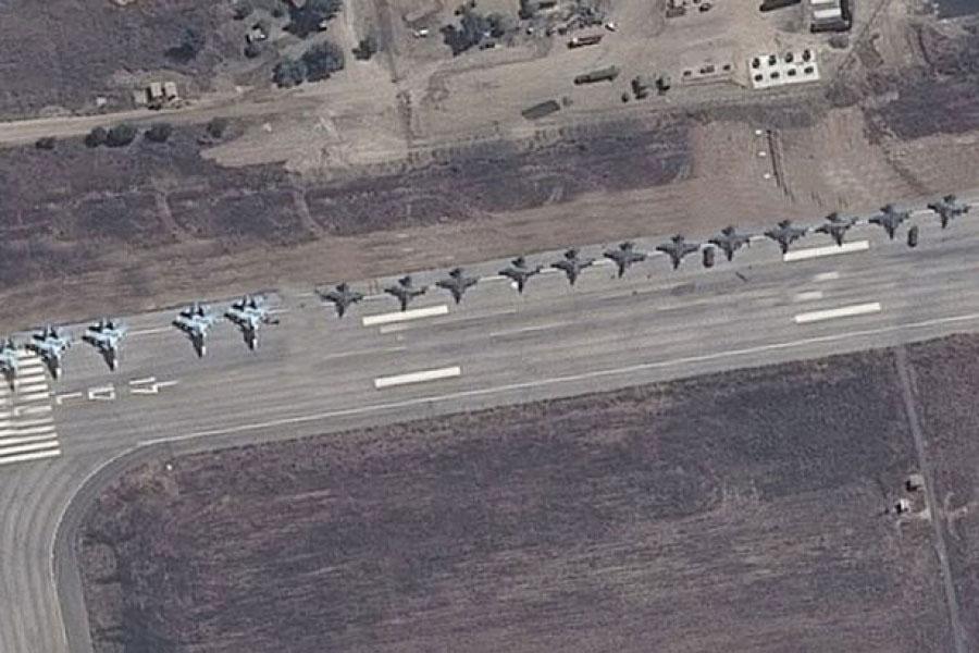 מטוסים ממבט הלווין