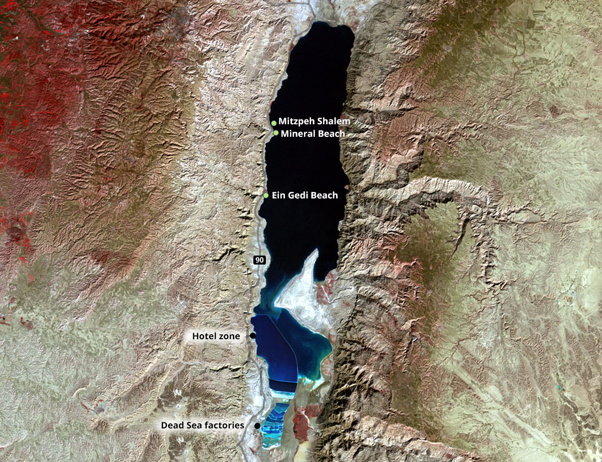 The Dead Sea and its sinkholes  natural disasters and flood seen